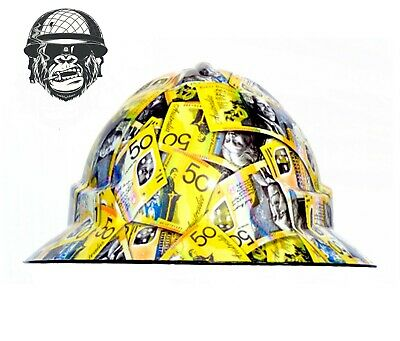 Custom Hydrographic Wide Brim Safety Hard Hats CASHED UP WIDE