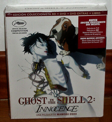 Ghost In The Shell 2 Nnocence Blu-Ray+Dvd+Dvd Extra+Libro Nuovo Senza Aprire R2