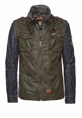 KHUJO HERREN JACKE UNIFORM DENIM CONTRAST & INNER JACKET