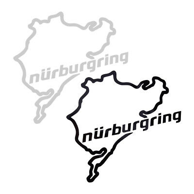 Nürburgring Karte Aufkleber Motorsport Auto Racing Car Sticker Vinyl Decal Neu