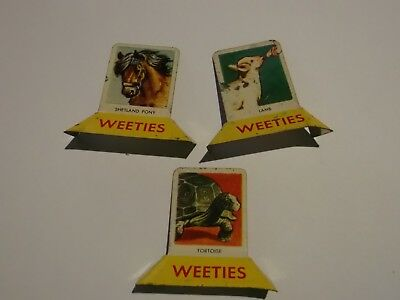Lot Of 3  Vintage  Stand Up Tin Weeties Cereal Collectables