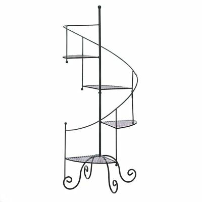 Tiered Plant Stand, Tall Black Indoor Corner Spiral Showcase Metal Plant Stands