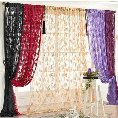 UK Door Glitter String Curtains Panel Fly Screen Room Divider Voile Net Curtain