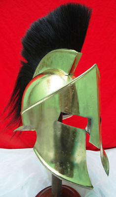 Medieval Roman Spartan Helmet 300 Movie Brass Antique Finish Item
