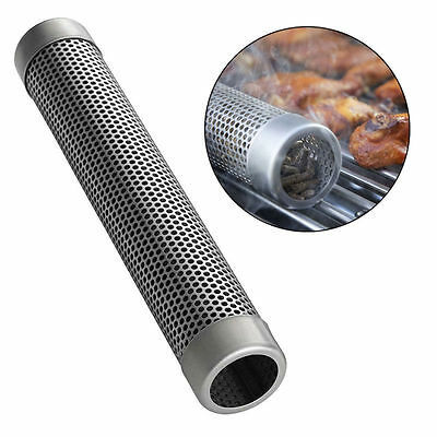 6''/12'' Stainless Steel Pellet Tube BBQ Smoker Pipe Tool for Outdoor Cooking US