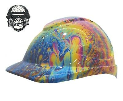 Custom Hydrographic Safety Hard Hats Colourful SWIRL CAP STYLE