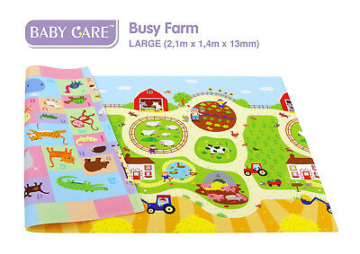 Spielmatte - Kinderspielmatte - BABY CARE - Busy Farm - Playmat - Mat - L