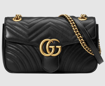 New Gucci Soho Black Small Leather Disco Crossbody Shoulder Bag