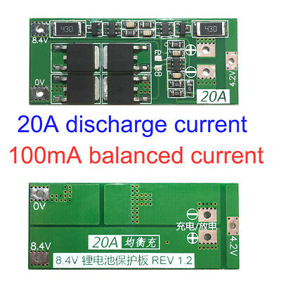 2S 20A Lithium Battery Charger Protection Board PCB 18650 Liion Lipo Cell Module