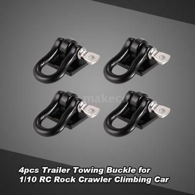 4pcs Trailer Towing Buckle Tow Shackle Hook for 1/10 RC Rock Crawler Axial F3S2