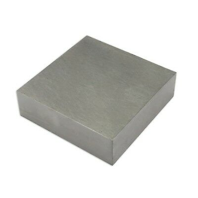 "SOLID STEEL DOMING BENCH BLOCK ANVIL 4"" X 4"" X 3/4""  100mm x 100mm x 18mm TOOLS"