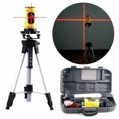 360° Rotary Self-Levelling Cross Line Measuring Tripod Stand & Case Laser Level