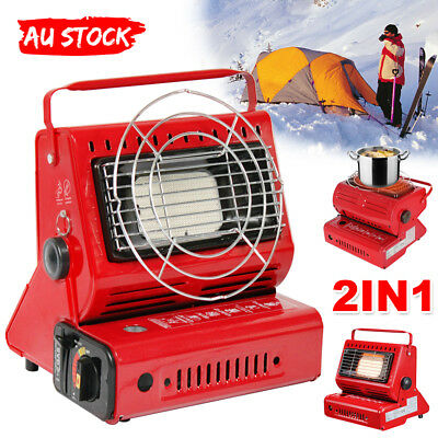 Portable Butane Heater Dual Use Stove Burner Outdoor Camping Picnic Heaters Gas