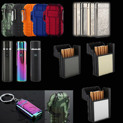 Waterproof Mini Portable Electric Dual Arc Cigarette Lighter USB Rechargeable