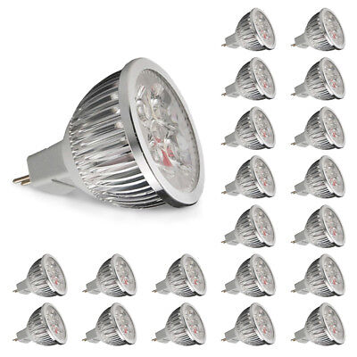 24/20x MR16 LED Bulb 6W Replace 50W Halogen DC12V Downlight Bright Lamp 420lm UK