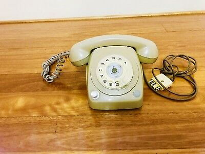 Vintage Rotary Dial Telephone with Volume Control