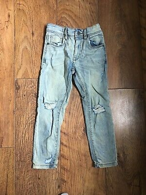 Next Boys Skinny Jeans Age 6 Fit Like An Age 5 Distressed Look