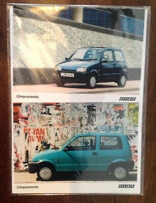 Fiat Cinquecento 1993 Press Kit News Release Two Photos and Statement