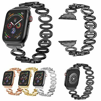 Luxury Stainless Steel Band Wristband Strap for Apple iWatch Series 4 40mm/44mm