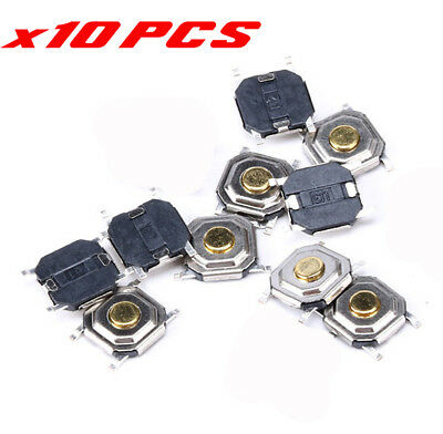 SMD GOLD MICROSWITCH x10pcs Tactile Push Button Switch 4x4x1.5mm Tact Switch DIY