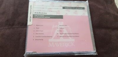 Madonna .like A Virgin.album Promo Re Mastered Version..new And Sealed...limited