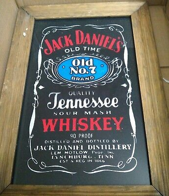 VINTAGE JACK DANIELS BAR GAMEROOM  WHISKEY BOURBON ADVERTISING SIGN man cave