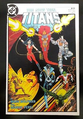 The New Teen Titans #1 Aug 1984 signed by Wolfman and Perez.