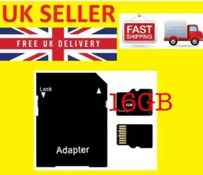 16Gb Micro Sd Tf C10  Ultra Flash Memory Card With Adapter For Mobile & Camera