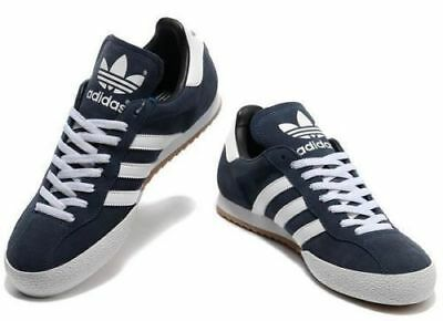 Adidas New Men's Originals Navy Samba Super Suede Trainers Shoes