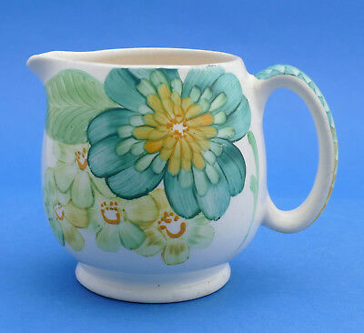 Grays Pottery - Jug Floral 1930s - ART DECO Design - Mainly Green GRAY'S