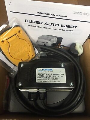 Kussmaul Super Auto Eject, Model #: 091-55-15-120 Automatic Shoreline Disconnect