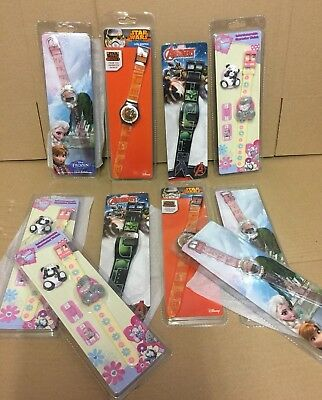 job lot wholesale 10 kids Watches clearance stock Disney / marvel  star wars etc