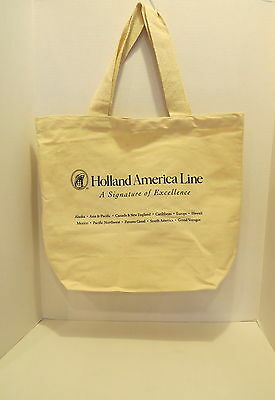 HOLLAND AMERICA CRUISE LINE Collectible ECO Recycle Bag Carry All Canvas Tote