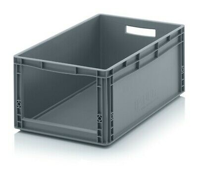 Euro Open Storage Box 60x40x27 Euro Containers with Window 600x400x270 Auer