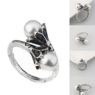 Game of Thrones Daenerys Targaryen Ring Pearl WhiteGold Plated Vintage Cosplay Z