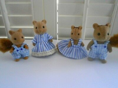 Sylvanian Families Clothes,New Blue Outfits for the family,Rabbits,Cats, ETC