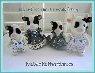 Sylvanian Families Clothes,New Grey Outfits for the family,Rabbits,Cats, ETC