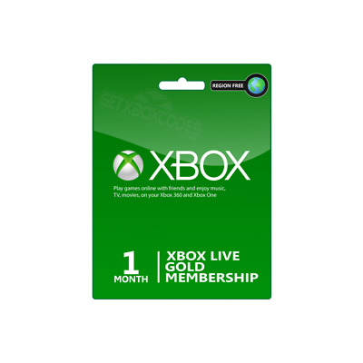1 Month Xbox Live Gold Membership (2x14 Day) Microsoft FAST DELIVERY