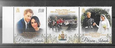 Pitcairn Islands 2018 NEW ISSUE Royal Wedding Strip  MNH