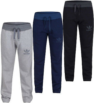 Adidas Originals Men's Spo Fleece Tracksuit Bottoms Sports Gym Joggers