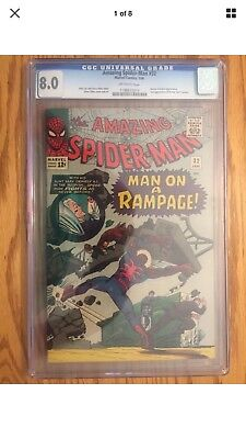 The Amazing Spider-Man #32 (Jan 1966, Marvel) CGC 8.0 off white pages