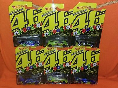 # HOT WHEELS 2018 VALENTINO ROSSI FULL SET 6 pcs LIMITED EDITION for ITALY MIB #