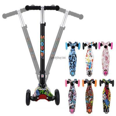 Kinder Scooter Klappbar 3-Rad mit LED Räder Tretroller Kickboards Funscooter Kid