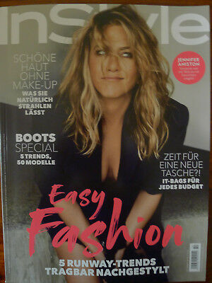 NEU! INSTYLE MAGAZINE, Oktober 10 2018 ,JENNIFER ANISTON  GERMANY MAGAZIN