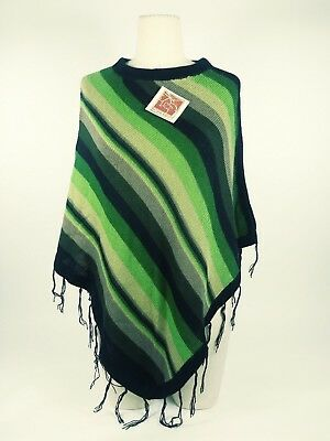 New Alpaca The Little Alpaca's House Peruvian Made Poncho One Size Fits All