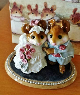 Wee Forest Folk M-200 The Wedding Pair  White dress/gray-blue tux Mint