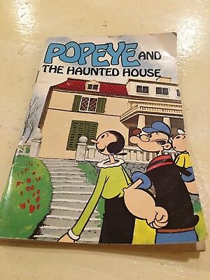"""Vintage """"Popeye And The Haunted House"""" Paperback"""