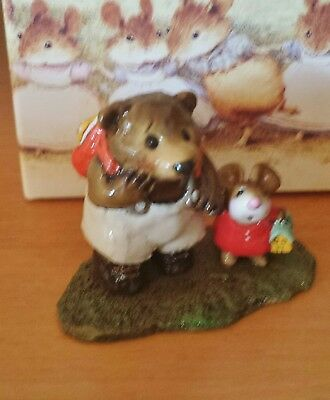 Wee Forest Folk M-245 MOUSIE'S BIG PAL Red small mouse RETIRED  MINT