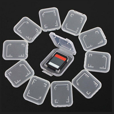 6Pcs Pro Plastic Case Holder Box Storage Without Card Standard SD SDHC Memory