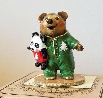 Wee Forest Folk Bears BB-10 NIGHTIE BEAR S Expressions SP EDITION 05 Xmas  Mint